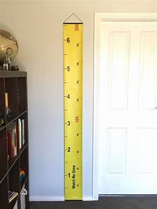 How To Make Height Chart At Home Yellow Tape Measure Hanging Height Chart Imperial