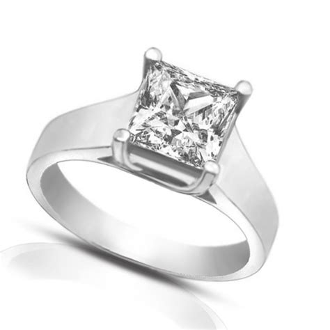 1 50 ct princess cut diamond engagement ring