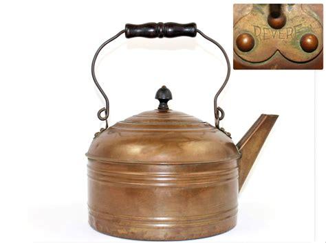 antique copper tea kettle revere tea kettle antique cookware