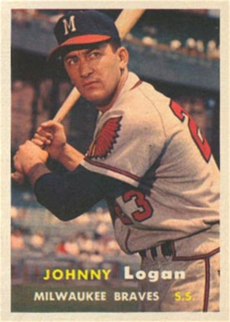 topps johnny logan  baseball card  price guide