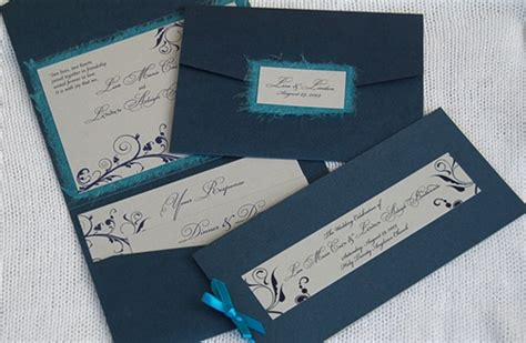 Diy Pocket-fold Wedding Invitation, Nyc & Barbados