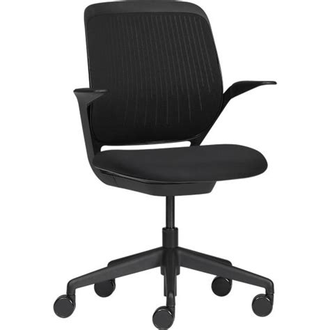 crate and barrel hughes office chair steelcase 174 cobi black office chair in office chairs