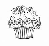 Coloring Cupcake Colouring Birthday Happy Printable Cupcakes Adults Sheet Adult Sheets Printables Children Drawing Chainimage Pantone Clawdeen Wolf Illustrations Dogs sketch template