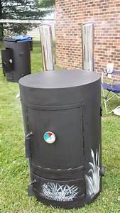 Upright Barrel Smoker : vertical smoker with stenciling 39 gear smokers vertical pinterest grills ~ Sanjose-hotels-ca.com Haus und Dekorationen
