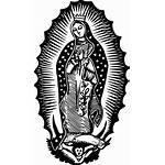 Guadalupe Vector Lady Clipart Mexican Virgen Virgin