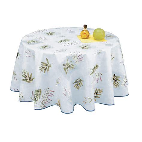 nappe toile ciree ronde 180 cm nappe toile cire ronde diamtre 180 cm frjus bleu provence olives et lavande