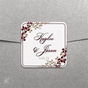 Label or favor tag template exquisite vines burgundy for 2x2 label template