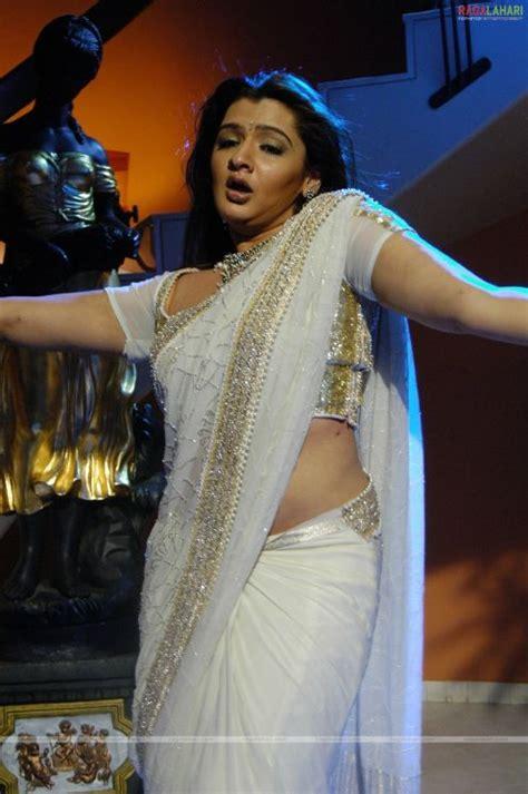All4i Telugu Actress Aarti Agarwal White Saree Wallpapers