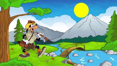 fish hunting goofy cartoon disney desktop desktop
