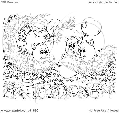 The Wolf From The 3 Little Pigs Free Coloring Pages