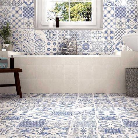 tangier blue patterned tiles porcelain superstore
