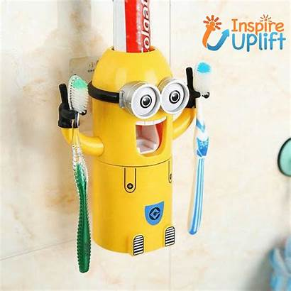 Banana Holder Toothpaste Fun Dispenser Spy Bathroom