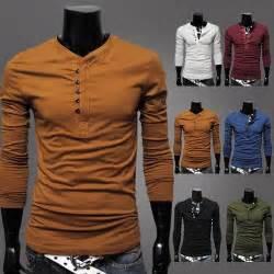 designer shirts korean style 2013 designer henley neck brand t shirts shirts sleeve tshirt clothes