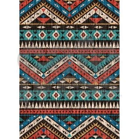 aztec area rug vintage aztec pattern 5 x7 area rug by listing 1947484