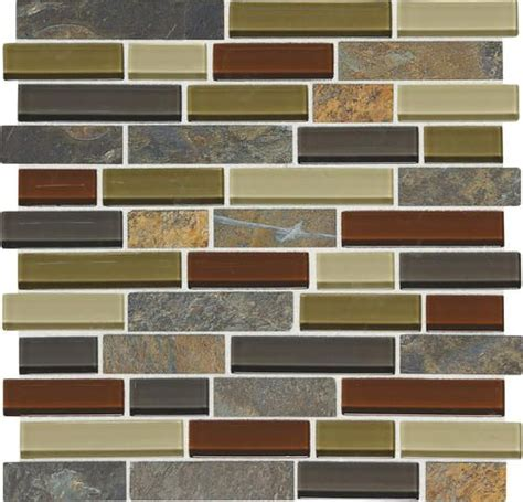 mohawk phase mosaics stone and glass wall tile 1 quot random