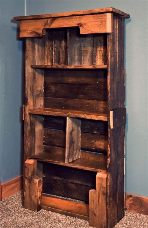 bookshelf made from pallets wooden pallet bookshelf diy pallet furniture plans