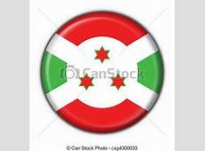 Burundi button flag round shape 3d made drawings