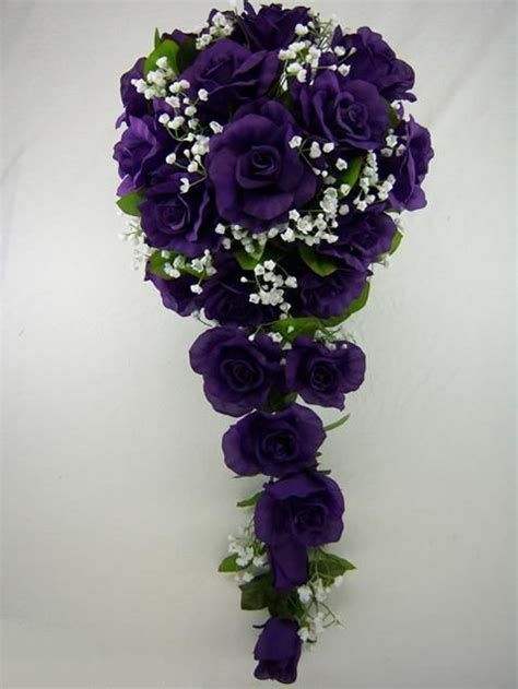 ideas  purple  green bridal bouquets wedding