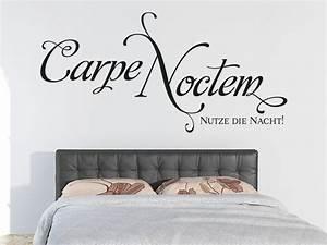 Wandtattoo Carpe Noctem : wandtattoo carpe noctem nutze die nacht von klebeheld ~ Sanjose-hotels-ca.com Haus und Dekorationen