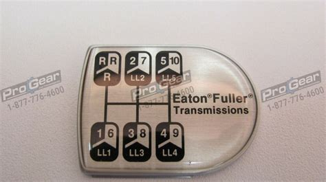 eaton fuller 15 speed transmission style d shaped shift knob medallion 21820 ebay