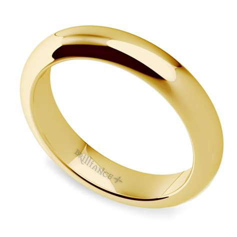comfort fit ring comfort fit wedding ring in yellow gold 4mm