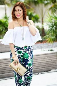 Show Off Some Shoulder White Top + Floral Pants - Blame it on Mei | Miami Fashion Blogger Mei Jorge