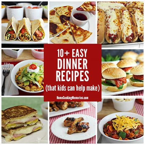 easy dinner recipes kids    home cooking