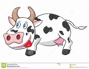 Cute Cow Cartoon Vector Illustration Stock Vector - Image ...