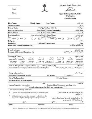 saudi visa application form saudi visa form pdf fill online printable fillable