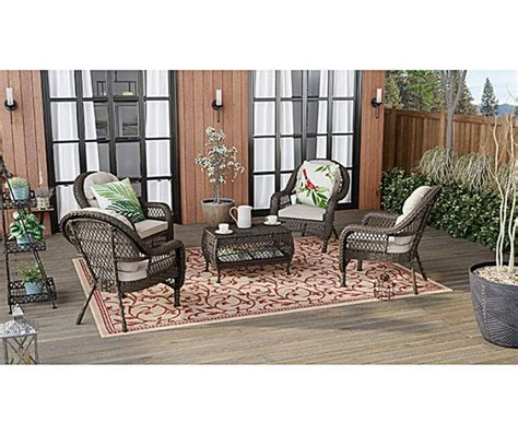 Coffee table, black wood grain,white,brown,modern,parsons,wooden,end table. Wilson & Fisher Westwood Medium Space Patio Seating Chairs & Coffee Table Set   Big Lots   Patio ...