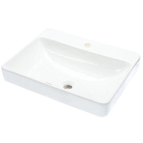 kohler vox vitreous china vessel sink in white with