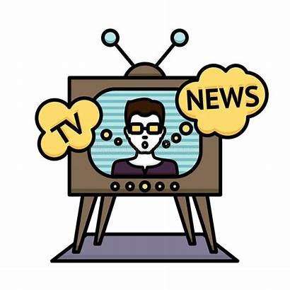 Clipart Tv Journalist Broadcast Television Reporter Vector