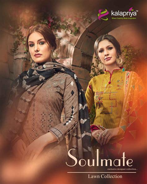 kalapriya soulmate digital print embroidered salwar kameez in cotton wholesale rate