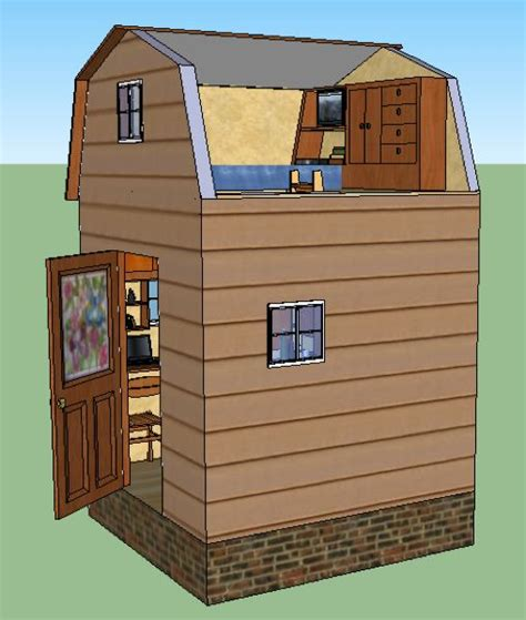 8x8 Shed Plans With Loft by Lamars 8x8 Tiny House Design 14 Diy Remodeling