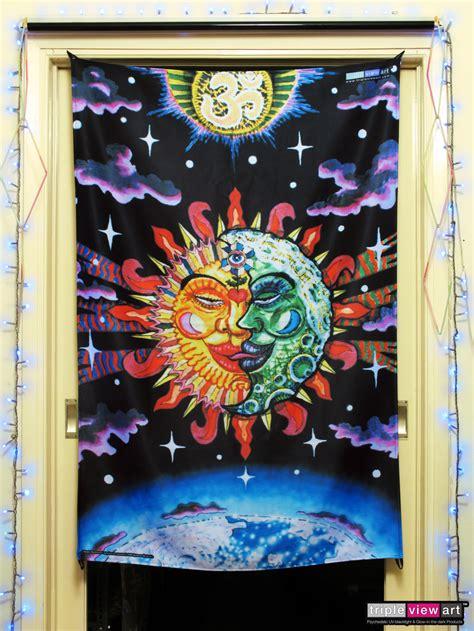 quot magic sunmoon quot uv blacklight fluorescent glow psychedelic