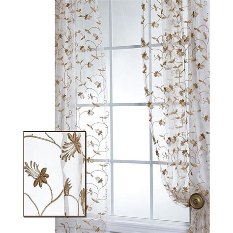 fiona floral white embroidered organza 108 inch sheer