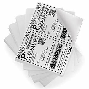 Merit 400 half sheet shipping labels self adhesive 85 x 5 for Half page labels