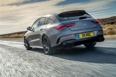 The cla45 shooting brake also sports amg's protruding panamericana grille, which is identified by the multiple vertical slats. Mercedes-AMG CLA 45 S Shooting Brake 2020 UK review | Autocar