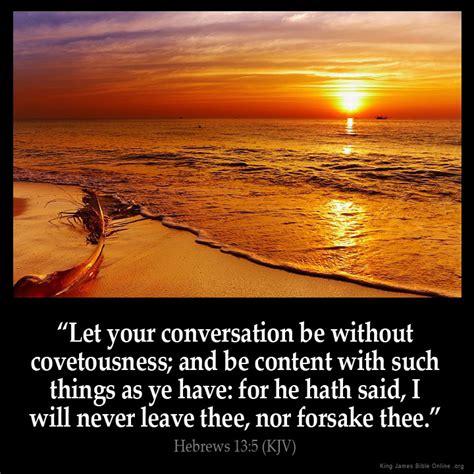 Hebrews 135 Inspirational Image