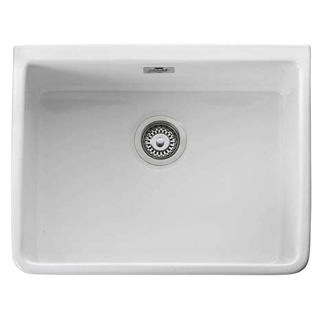 small ceramic kitchen sinks leisure belfast cbl595wh ceramic single bowl sink 5360