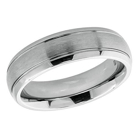 men s 6mm titanium wedding band engagement ring domed brushed center ridged edge ebay