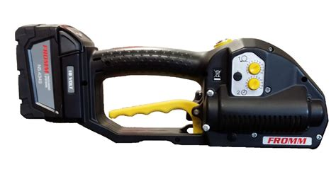 fromm p  battery powered plastic strapping tool quick pak