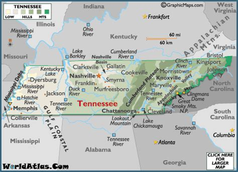 geography of tennessee world atlas