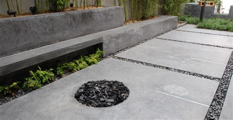 modern concrete patio designs ideas landscaping