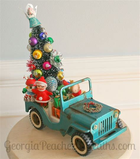 image  kitschy christmas creations vintage jeep party