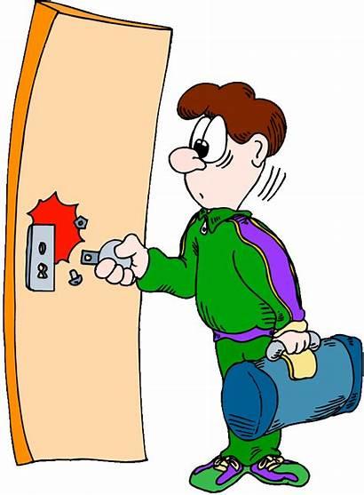 Door Clipart Lock Locksmith Cartoon Key Cliparts