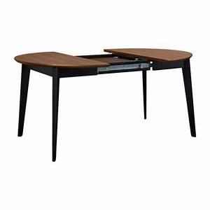 Tables Rondes Extensibles : moder table en noyer et noire habitat ~ Teatrodelosmanantiales.com Idées de Décoration
