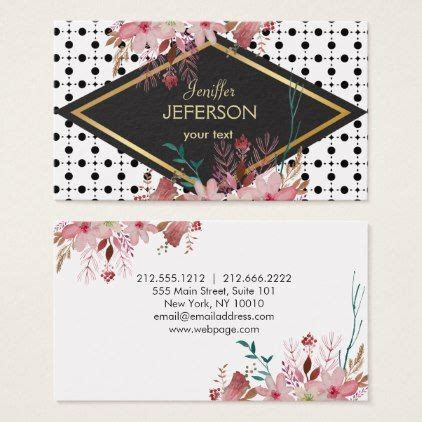 elegant floral pattern business card floral gifts