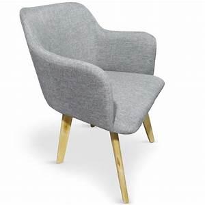 Chaise Scandinave Accoudoir : chaise tissu gris kandi ~ Teatrodelosmanantiales.com Idées de Décoration