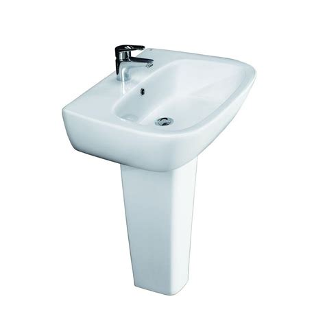 barclay pedestal sink compact 450 barclay products 600 pedestal combo bathroom sink in
